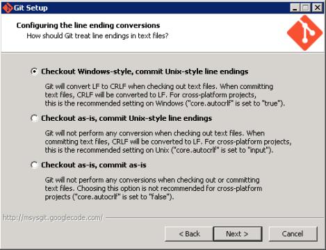 Git Install - Windows Format